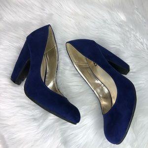 4eca7d8704a Women Royal Blue Chunky Heels on Poshmark